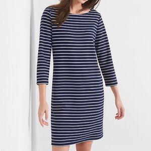 GAP | Navy + White Stripe Dress